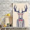 Stag Contemporary Animal Canvas Artwork Image Print for Wall Decor