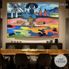 Day of the Gods Eugène Henri Paul Gauguin Nude Landscape Impressionist Artwork Photo Canvas Print for Room Wall Décor