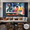 We Shall Not Go to Market Today Eugène Henri Paul Gauguin Figure Landscape Impressionist Artwork Picture Canvas Print for Room Wall Decoration