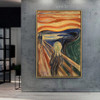 The Scream Edvard Munch Figure Abstract Expressionism Reproduction Portrait Picture Canvas Print for Room Wall Ornament