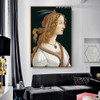 Portrait of a Young Woman Sandro Botticelli Figure Early Renaissance Reproduction Artwork Image Canvas Print for Room Wall Adornment