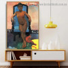 Annah the Javanese Paul Gauguin Nude Impressionism Portrait Photo Canvas Print for Room Wall Ornament