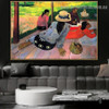 Siesta Paul Gauguin Figure Landscape Post Impressionism Portrait Painting Canvas Print for Room Wall Décor
