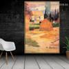 Landscape Near Arles Paul Gauguin Post Impressionism Portrait Picture Canvas Print for Room Wall Décor