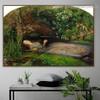 Ophelia John Everett Millais Figure Landscape Romanticism Artwork Photo Canvas Print for Room Wall Garniture