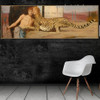 The Sphinx or the Caress Fernand Khnopff Animal Figure Landscape Symbolism Reproduction Portrait Photo Canvas Print for Room Wall Ornament