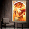 Fruit Alphonse Mucha Vintage Botanical Figure Retro Reproduction Poster Artwork Picture Canvas Print for Room Wall Decoration