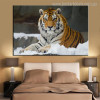Tiger Animal Modern Effigy Portrait Print for Room Wall Outfit