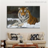 Tiger Animal Modern Effigy Portrait Print for Living Room Wall Assortment