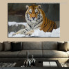 Tiger Animal Modern Effigy Portrait Print for Lounge Room Wall Onlay