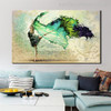 Dancing Colleen Abstract Figure Handmade Painting Picture Canvas Print for Room Wall Ornament