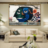 Abstract Face Typography Graffiti Portrait Picture Canvas Print for Room Wall Garniture