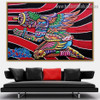 Abstract Skull Figure Graffiti Portrait Painting Canvas Print for Room Wall Garniture