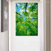 Green Trees Botanical Nature Canvas Artwork Portrait Print for Room Wall Drape