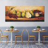 Table Vintage Food and Beverage Painting Portrait Print for Dining Room Wall Getup