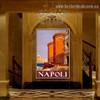 Napoli Vintage Landscape Travel Retro Advertisement Portrait Photo Canvas Print for Room Wall Drape