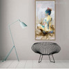 Woman Abstract Watercolor Figure Painting Canvas Print for Wall Drape
