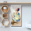 Dorsum Abstract Watercolor Figure Nude Canvas Artwork Print for Wall Art Disposition