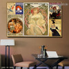 The Chap Book Collage Vintage Botanical Figure Advertisement Poster Portrait Image Canvas Print for Room Wall Garnish