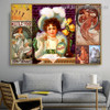 The Arts Dance Collage Botanical Figure Vintage Advertisement Poster Artwork Photo Canvas Print for Room Wall Garniture