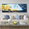 Dapple Panoramic Abstract Modern Painting Canvas Print for Living Room Wall Decor