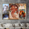 Beer of the Meuse Collage Botanical Figure Vintage Advertisement Poster Portrait Picture Canvas Print for Room Wall Décor