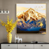 Mountains Nature Landscape Painting Canvas Print for Lounge Room Wall Flourish