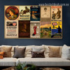 Unser Kaiser Collage Animal Figure Landscape Vintage Ad Poster Artwork Image Canvas Print for Room Wall Decoration