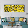 Curved Lines Abstract Modern Panoramic Painting Canvas Print for Living Room Wall Decor