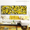 Curved Lines Abstract Modern Panoramic Painting Canvas Print for Lounge Room Wall Drape