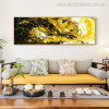 Twisty Lines Abstract Contemporary Panoramic Painting Print for Room Wall Getup
