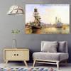 Honfleur Johan Jongkind Landscape Impressionism Reproduction Artwork Image Canvas Print for Room Wall Decoration