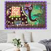 Madhubani Mithila Elephant Botanical Animal Landscape Traditional Portrait Photo Canvas Print for Room Wall Garniture
