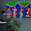 Indian Traditional Dance Figure Modern Artwork Image Canvas Print for Room Wall Adornment