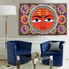 Madhubani Mithila Sun Religion & Spirituality Traditional Portrait Picture Canvas Print for Room Wall Garniture