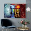 Shiv Parvati Jodi Botanical Religion & Spirituality Traditional Portrait Picture Canvas Print for Room Wall Ornament
