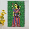 Durga Maa Design Religion & Spirituality Botanical traditional Portrait Image Canvas Print for Room Wall Decoration