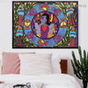 Floral Krishna Religion & Spirituality Botanical Traditional Artwork Image Canvas Print for Room Wall Décor