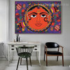 Floral Sun Design Botanical Animal Abstract Traditional Portrait Image Canvas Print for Room Wall Ornament