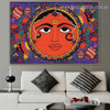 Floral Sun Design Botanical Animal Abstract Traditional Portrait Picture Canvas Print for Room Wall Decoration