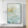 Golden Spots Abstract Marble Painting Canvas Print for Wall Drape