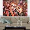Radha Krishna Religious Traditional Artwork Photo Canvas Print for Room Wall Adornment