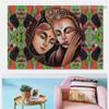 Portrait of Radha Krishna Religion & Spirituality Traditional Portrait Photo Canvas Print for Room Wall Garnish