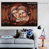 Lord Radha Krishna Religious Traditional Artwork Picture Canvas Print for Room Wall Decor