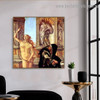 Calumny of Apelles Sandro Botticelli Figure Early Renaissance Reproduction Portrait Painting Canvas Print for Room Wall Garniture