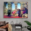 Calumny of Apelles II Sandro Botticelli Figure Early Renaissance Reproduction Artwork Picture Canvas Print for Room Wall Décor