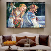 The Youth of Moses Sandro Botticelli Figure Early Renaissance Reproduction Portrait Picture Canvas Print for Room Wall Flourish