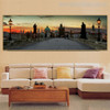 Charles Bridge Modern Cityscape Painting Portrait Print for Living Room Wall Getup