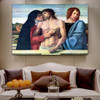 Dead Christ Supported by Madonna and St. John Giovanni Bellini Figure Landscape High Renaissance Reproduction Portrait Image Canvas Print for Room Wall Adornment