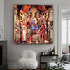 Virgin and Child with Saints from the Altarpiece of San Barnabas Sandro Botticelli Religious Figure Early Renaissance Reproduction Portrait Painting Canvas Print for Room Wall Garnish